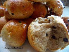 """Καλημέρες με υπέροχα σταφιδόψωμα νηστίσιμα σαν τσουρεκάκια!!! Δεν θα μείνει ψίχουλο… ΥΛΙΚΑ 1 κιλό αλεύρι για """"ολες τις χρήσεις 1 φακελάκι μαγιά σκόνη 1 κούπα σταφίδες μαύρες ή ξανθές 1/2 κούπα φυτίνη λιωμένη ή βιτάμ 2 κούπες νερό περίπου(χλιαρό) 1 κούπα άχνη ζάχαρη 1 κ.γ γεμάτο κανέλα 1/2 κ.γ γαρίφαλο ΓΙΑ ΤΟ ΓΛΑΣΟ 1/2 κούπα …"""