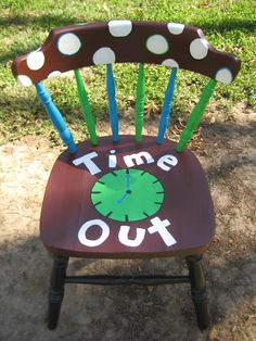 Here's Landon's timeout chair.... I love how it turned out!