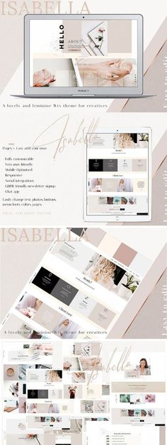 If you're looking for a website that looks amazing and is easy to DIY, let me introduces ISABELLA. Perfect for the DIY site owner that wants to stand out.