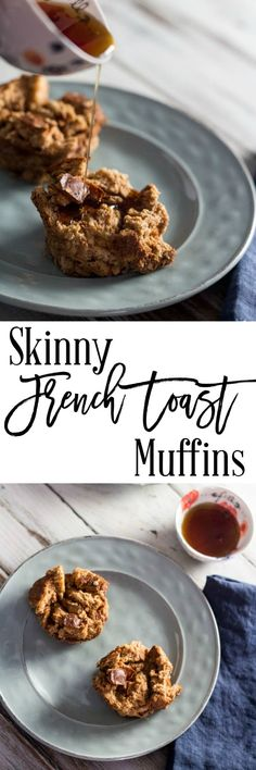 Skinny French Toast Muffins - Breakfast foods can get boring when you are on a diet, but they don't have to be. These skinny french toast muffins are fantastic, healthy and only 3 SmartPoints per muffin on Weight Watchers.