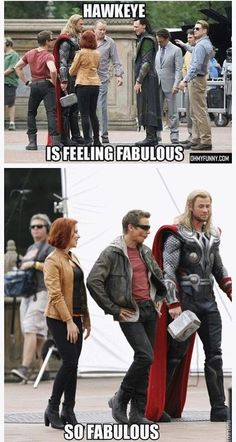 Jeremy Renner is feeling fabulous…