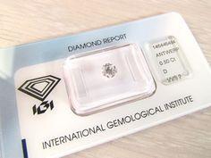 Catawiki Online-Auktionshaus: Diamant im Brillantschliff mit 0,50 Karat - D VVS2