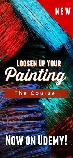 How to get rid of that tight style and paint loose? Take a look at this course now launched on Udemy. Extensive demos, downloads and details about the loose or painterly style,