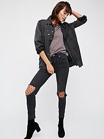 Levi's 501 CT Jean | Levi's took the classic 501 and added a tapered twist to get the CT. In a boyfriend mid-rise fit, these distressed jeans are relaxed through the hip and thigh and feature a more cropped inseam. Five-pocket style and a button fly.
