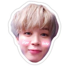 Buy 'BTS Jimin' by jellycactus as a Sticker, iPhone Case, Case/Skin for Samsung Galaxy, Transparent Sticker, or Glossy Sticker Pop Stickers, Face Stickers, Tumblr Stickers, Printable Stickers, Foto Jungkook, Bts Jimin, Bts Emoji, Bts Pictures, Photos