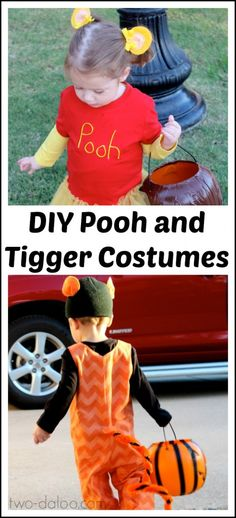 A fantastic list of DIY Disney Halloween costumes for kids including tutorials for Elsa & Olaf from Frozen, Tigger & Pooh, Peter Pan, Princesses and more!