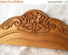 VINTAGE Cornice Wood Decorative Detail of carved wood rose  door or window molding by StudioVintage on Etsy