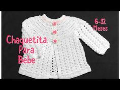 Crochet baby cardigan, matinee coat or jacket months fast and easy Welcome to my channel Crochet for Baby. In todays tutorial I will show you how to crochet this easy to do cardigan or baby jacket for a baby girl from months. Crochet Baby Cardigan Free Pattern, Crochet Baby Sweaters, Crochet Baby Jacket, Gilet Crochet, Baby Sweater Patterns, Baby Girl Crochet, Crochet Baby Clothes, Crochet Baby Hats, Baby Knitting