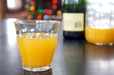 Mango Bellini - A light, easy, lazy cocktail made with mango nectar and sparkling wine.
