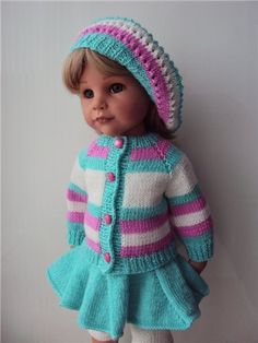 Два комплекта вязаной одежды на кукол Готц / Одежда для кукол / Шопик. Продать купить куклу / Бэйбики. Куклы фото. Одежда для кукол