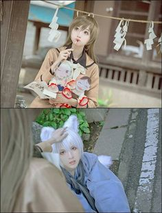 Kamisama Hajimemashita -Nanami and Tomoe cosplay. These two makes such a realistic Nanami and Tomoe couple.