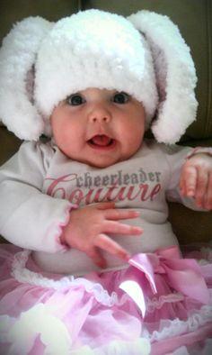 crocheted bunny hat <3