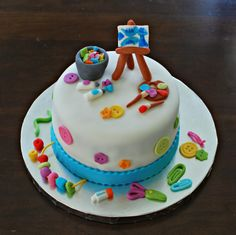 Arts and Crafts Themed Cake by Snacky French