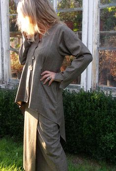 Tail Jacket in wool £295 over Paris Skirt in wool.