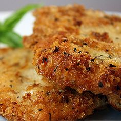 Parmesan Panko Herb Crusted Chicken Breast..may have already pinned this, but today it is what's for dinner!!  ;)