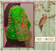 parrot design blouse