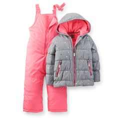 Snow suit for Isabelle (not necessarily this one, though it is cute) 2-Piece Sparkle & Neon Snowsuit | Carter's