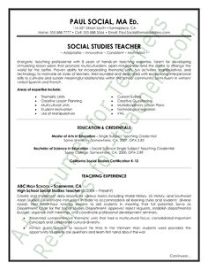 spanish teacher resume sample   teacher and principal resume    social studies teacher resume sample page