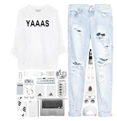"""Yaass!!!!"" by styleburst ❤ liked on Polyvore featuring One Teaspoon, Caran D'Ache, adidas, RVCA, Monki, ASOS, shu uemura, Boohoo, Kristin Cavallari and philosophy"