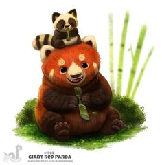 Daily Painting 1702# Giant Red Panda by Cryptid-Creations.deviantart.com on @DeviantArt