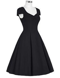 Belle Poque Retro Vintage Festliche Kleider 50er kleid Partykleid knielang ZYB000007: Amazon.de: Bekleidung