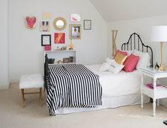 Bedroom Ideas to take a tween girl bedroom to a teen room. DIY interior design ideas.