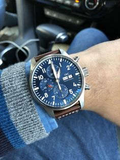 [IWC Le Petit Prince Chronograph] - recently picked up my first IWC Diesel Watches For Men, Luxury Watches For Men, Male Watches, Wrist Watches, Relic Watches, Timex Watches, Best Looking Watches, Cool Watches, Iwc Pilot Chronograph
