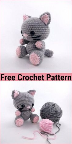 amigurumi cat Easy Crochet Cat Patterns,Free Crochet Cat Pattern-I have shared a big and cute list of free crochet cat patterns and amigurumies that will make you stunned and I am sure you would really like to make them. Crochet Cat Pattern, Crochet Amigurumi Free Patterns, Crochet Animal Patterns, Stuffed Animal Patterns, Crochet Dolls, Knitting Patterns, Cat Crochet, Easy Crochet Animals, Kids Crochet