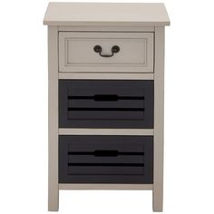Casa Cortes Oxford 3-drawer Solid Wood Two-tone Night Stand ($200) ❤ liked on Polyvore featuring home, furniture, storage & shelves, nightstands, blue, euro furniture, three drawer nightstand, blue wood furniture, drawer nightstand and colored furniture