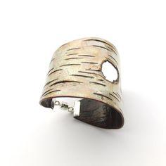 Handmade birch bark bracelet, via Etsy.