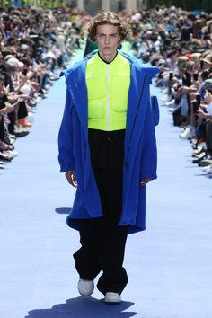 06c38658ba2240 Look from the Men s Spring-Summer 2019 Fashion Show by Louis Vuitton s new  men s artistic