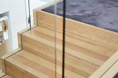 Stairs | Staircase | Tasmanian Oak | Stained | Floorboard | Glass Balustrade | Handrail | House | Interior Design | Architecture