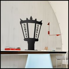 NYC  WALL DECAL  Subway Lamp New York Fifth 5 Avenue by Citystic, $15.00