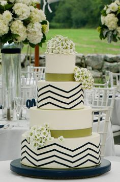 Hydrangeas and Chevron
