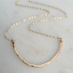Organic gold bar necklace www.nellenetree.com
