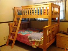Bunk beds are great to save bedroom space with 2 or more person. If you want to build it, bookmark this collection of free DIY bunk bed plans. Bunk Beds For Boys Room, Adult Bunk Beds, Wood Bunk Beds, Modern Bunk Beds, Bunk Beds With Stairs, Twin Bunk Beds, Kid Beds, Loft Beds, Trundle Beds