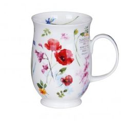 Dunoon Fleurie Poppy Suffolk Shape Mug | TemptationGifts.com