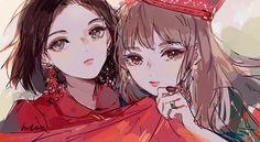 Peek A Boo okno , es red velvet! Seulgi, K Pop, Tanaka Kou, Red Valvet, Kpop Drawings, Wendy Red Velvet, Kpop Fanart, Couple Art, Illustration Girl