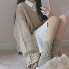 ☁️Korean Fashion|Cream Tones☁️ @oliwiasierotnik