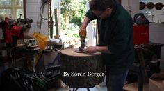 Soren Berger makes one of his unique wooden lampshades.  Filmed Rikki Berger Edited Rikki Berger  Music Waldeck - Get up Carmen  I am a woodturner/inventor/teacher with 35 years at the lathe, I hope you enjoy a small glimpse into making one of my shades.  find out more at www.facebook.com/woodturning