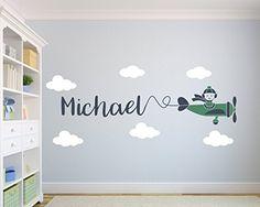 Custom Airplane Name Wall Decal Nursery Art Decor ON SALE!!