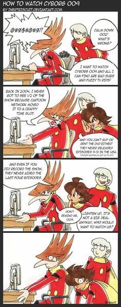 Cyborg 009! LOL this is how I feel everytime I remember 009.