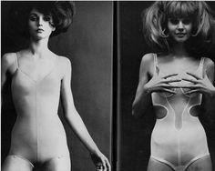 As always, love seeing anorexic girls in full on girdles....SHEESH!