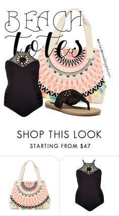 """Beach Tote"" by samiandrenee on Polyvore featuring RAJ, River Island, MIA and beachtotes"