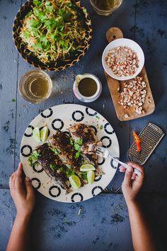 Spicy Mackerel With Raw Papaya Salad| Playful Cooking