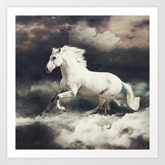 ANIMALS ARE MAGIC : HORSE Art Print by Skinny Creates... - $20.00