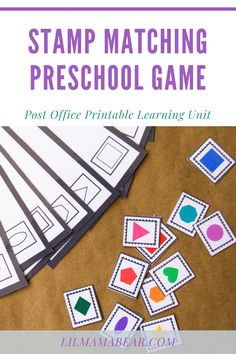 Have fun learning about the post office with this printable preschool project based learning unit! Homeschool Preschool Curriculum, Preschool Schedule, Preschool At Home, Preschool Classroom, Preschool Activities, Homeschool Blogs, Preschool Projects, Preschool Lesson Plans, Project Based Learning