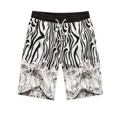 Pánské kraťasové plavky černo-bílé – koupací kraťasy šortky + POŠTOVNÉ  ZDARMA Na tento produkt aa259e0384