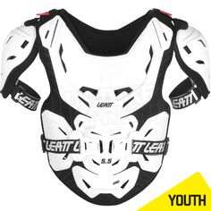 Leatt 5.5 Pro Junior Kids Chest Protector - White