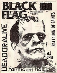 Arte Punk, Punk Art, Tour Posters, Band Posters, Music Posters, Black Flag Band, Punk Poster, Gig Poster, Music Flyer